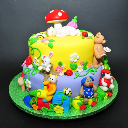 Baby Animals Kids Birthday Cake
