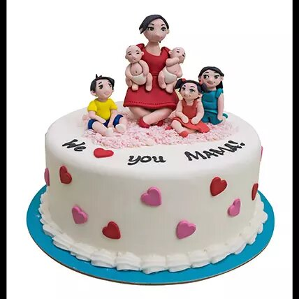 Love You Mom Designer Cake